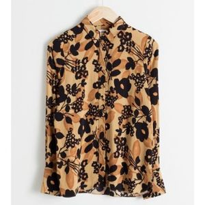 & other stories relaxed floral button down